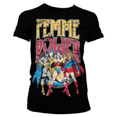 Officially-Licensed-Wonder-Woman-Femme-Power-Women-s-T-Shirt-S-XL-Sizes-Unicorn-Brand-Women